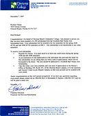 $1500 Elizabeth Barr Studio Arts scholarship letter