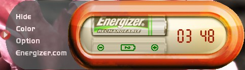 Energizer USB Charger software: count-down