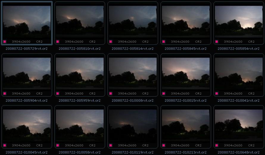 Mediocre lightning series