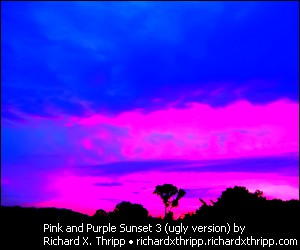 Over-saturated version of Pink and Purple Sunset 3