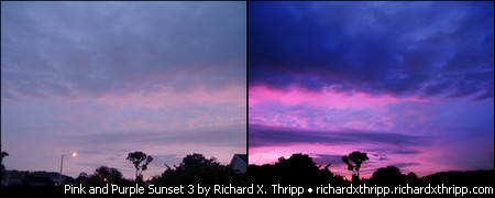 Pink and Purple Sunset 3, an example of heavy editing