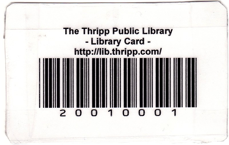 Richard X. Thripp's Thripp library card