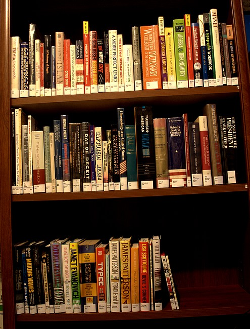 The Thripp Library shelves