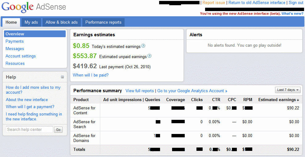 Dating site adsense earnings