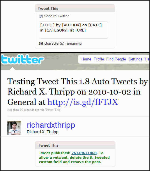 Tweet This, a WordPress Plugin for Twitter [1 8 3] | Thripp